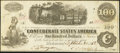 Confederate Notes:1862 Issues, T40 $100 1862 PF- 1 Cr. 298.. ...