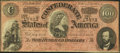 Confederate Notes:1864 Issues, T65 $100 1864 PF-1 Cr. 490 Dark Red Tint.. ...
