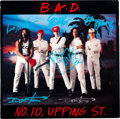 Music Memorabilia:Autographs and Signed Items, Big Audio Dynamite Signed No. 10 Upping Street Album(1986)....
