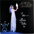 Music Memorabilia:Autographs and Signed Items, Stevie Nicks Signed Bella Donna Album (1981)....