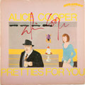 Music Memorabilia:Autographs and Signed Items, Alice Cooper Signed Pretties For You Album (1969)....