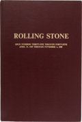 Music Memorabilia:Memorabilia, Rolling Stone Magazine Issues #31-45 Bound Volume (1969)....