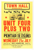 Music Memorabilia:Posters, Unit Four Plus Two Town Hall Concert Poster (LMD Promotion,1965)....