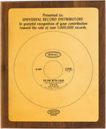 "Music Memorabilia:Awards, Lulu ""To Sir With Love"" Epic In-House Gold Sales Award (Epic5-10187, 1967)...."