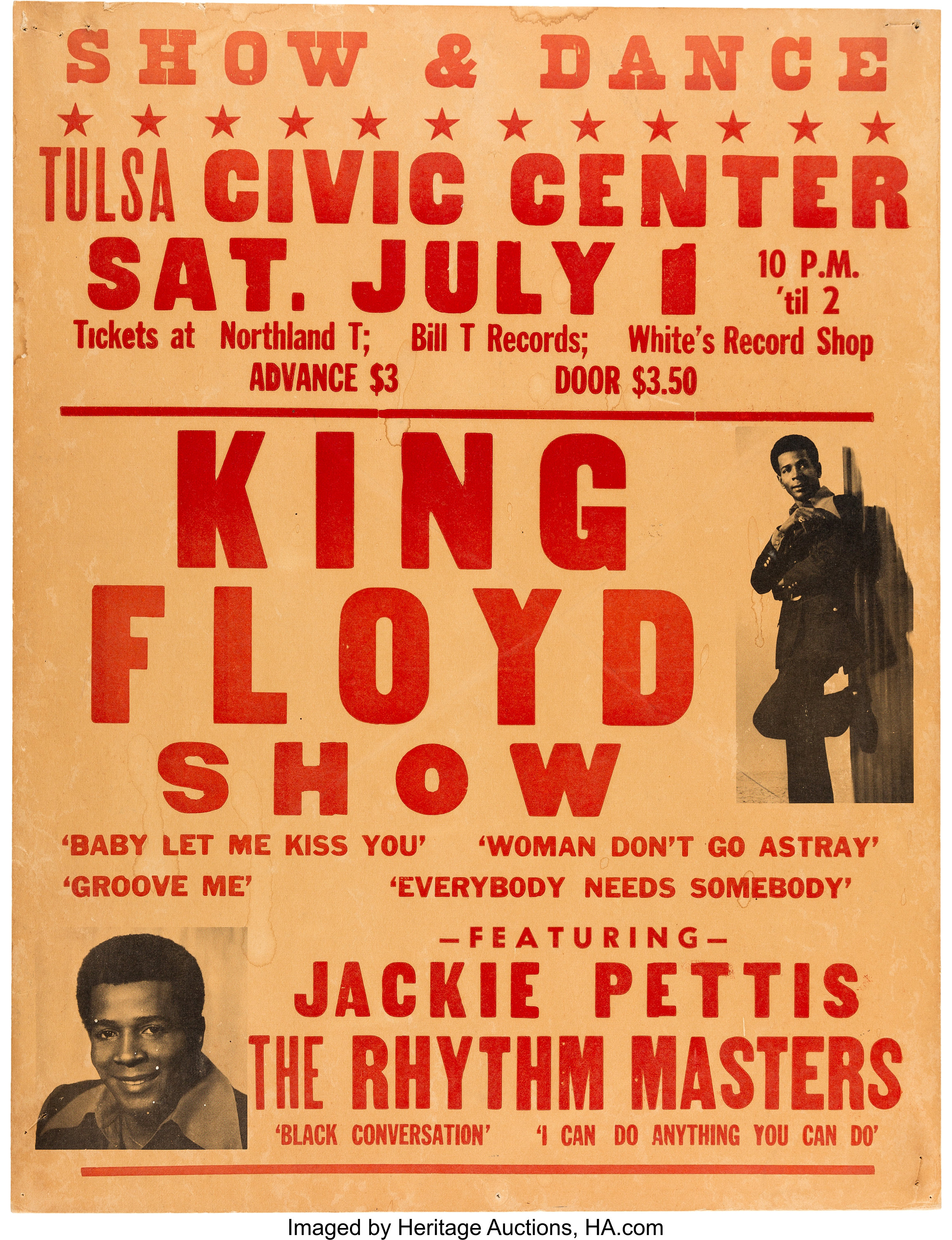 King Floyd Tulsa Civic Center Concert Poster (1970s).... Music | Lot #89620  | Heritage Auctions