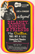Music Memorabilia:Posters, Delaney, Bonnie & Friends/Cactus Comerford Theatre ConcertPoster (circa Early-1970s)....