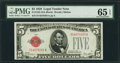 Small Size:Legal Tender Notes, Fr. 1525 $5 1928 Legal Tender Note. D-A Block. PMG Gem Uncirculated 65 EPQ.. ...