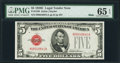 Small Size:Legal Tender Notes, Fr. 1530 $5 1928E Mule Legal Tender Note. PMG Gem Uncirculated 65 EPQ.. ...