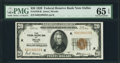 Fr. 1870-K $20 1929 Federal Reserve Bank Note. PMG Gem Uncirculated 65 EPQ