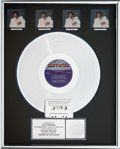 Music Memorabilia:Awards, Lionel Richie Dancing on the Ceiling RIAA HologramMulti-Platinum Sales Award (Motown 6158 ML, 1986)....