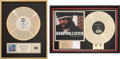 Music Memorabilia:Awards, Alexander O'Neal/ Dave Hollister Gold Record Awards(Tabu/Dreamworks, 1987/2000).... (Total: 2 Items)