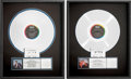 Music Memorabilia:Awards, Freddie Jackson - Two RIAA Platinum Album Awards (Capitol,1985/86).... (Total: 2 Items)