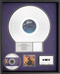 Music Memorabilia:Awards, Luther Vandross Power of Love RIAA Platinum Album Award(Epic E 46789, 1991)....