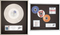 """Music Memorabilia:Awards, Luther Vandross - Any Love Platinum Award & Epic """"3 in the Top Ten Award (Epic 1988/90).... (Total: 2 Items)"""