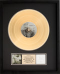 Music Memorabilia:Awards, Warren G I Want it All RIAA Gold Record Award (Restless 73710-2, 1999)....