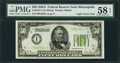 Fr. 2101-I $50 1928A Light Green Seal Federal Reserve Note. PMG Choice About Unc 58 EPQ
