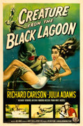 "Movie Posters:Horror, Creature from the Black Lagoon (Universal International, 1954). OneSheet (27"" X 41"") Albert Kallis Artwork.. ..."