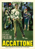 "Movie Posters:Foreign, Accattone (Arco Film, 1961). Italian 2 - Fogli (39.5"" X 55"") Sandro Symeoni Artwork.. ..."