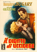 "Movie Posters:Film Noir, In a Lonely Place (Columbia, 1951). Italian 2 - Fogli (39.5"" X55.5"") Anselmo Ballester Artwork.. ..."