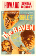 "Movie Posters:Horror, The Raven (Universal, 1935). Window Card (14"" X 22"").. ..."