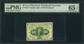 Fractional Currency:First Issue, Fr. 1242 10¢ First Issue PMG Gem Uncirculated 65 EPQ.. ...
