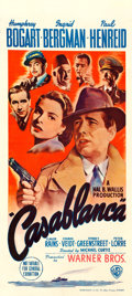 "Movie Posters:Academy Award Winners, Casablanca (Warner Brothers, 1942). Australian Daybill (13.5"" X30"").. ..."