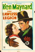 "Movie Posters:Western, The Lawless Legion (First National, 1929). One Sheet (27.5"" X 41"")Style B.. ..."