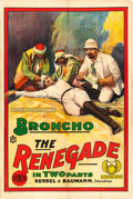 "Movie Posters:Drama, The Renegade (Mutual, 1915). One Sheet (27"" X 41"").. ..."
