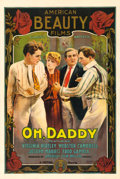 "Movie Posters:Comedy, Oh, Daddy (Mutual, 1915). One Sheet (28"" X 42"").. ..."