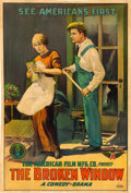 "Movie Posters:Comedy, The Broken Window (Mutual, 1915). One Sheet (27"" X 40"").. ..."