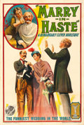 "Movie Posters:Comedy, Marry in Haste (Universal, 1913). One Sheet (27.5"" X 41"").. ..."