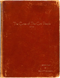 """The Curse of the Cat People by DeWitt Bodeen (RKO, 1944). Hardbound Script (8.5"""" X 11""""), Autographed Photo (8&..."""