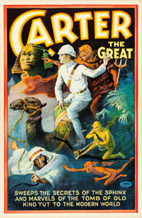 """Carter the Great (Otis Litho, 1923). One Sheet (26.75"""" X 41"""") """"Sweeps the Secrets of the Sphinx.""""..."""
