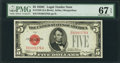 Small Size:Legal Tender Notes, Fr. 1528 $5 1928C Legal Tender Note. PMG Superb Gem Unc 67 EPQ.. ...
