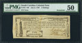 Colonial Notes:South Carolina, South Carolina- City of Charleston July 6, 1789 2s PMG AboutUncirculated 50 Remainder.. ...