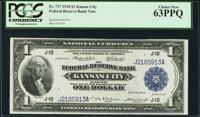 Fr. 737 $1 1918 Federal Reserve Bank Note PCGS Choice New 63PPQ