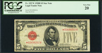 Fr. 1527* $5 1928B Legal Tender Note. PCGS Very Fine 20