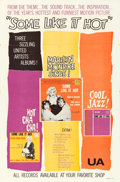 """Movie Posters:Comedy, Some Like It Hot (United Artists, 1959). Soundtrack One Sheet (27""""X 41"""").. ..."""