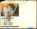 "Movie Posters:Romance, The Night of Love (United Artists, 1927). Pressbook (MultiplePages, 9.75"" X 12.5"").. ..."