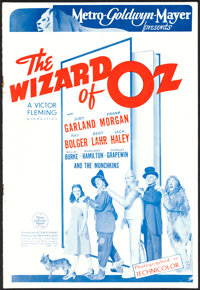 """The Wizard of Oz (MGM, 1939). British Pressbook (10"""" X 14.5"""", 12 Pages)"""
