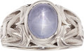 Estate Jewelry:Rings, Star Sapphire, Platinum Ring. ...