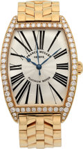 Estate Jewelry:Watches, Franck Muller Gentleman's Diamond, Gold Automatic Master of Complications Watch. ...