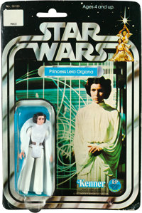 """Star Wars (Kenner, 1978). Action Figure (1.25"""" X 3.75"""") on 12 Back Card (6"""" X 9"""") """"Princess Lei..."""