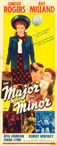 """Movie Posters:Comedy, The Major and the Minor (Paramount, 1942). Insert (14"""" X 36"""").. ..."""