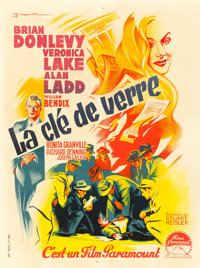 "The Glass Key (Paramount, 1942). First Post War Release French Moyenne (23.5"" X 31.5"")"