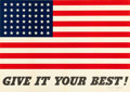 "Movie Posters:War, World War II Propaganda (U.S. Government Printing Office, 1942).Poster (20"" X 20.8""). ""Give It Your Best."". ..."