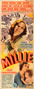 "Movie Posters:Drama, Millie (RKO, 1931). Insert (14"" X 36""). Drama.. ..."