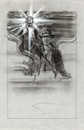 "Movie Posters:Action, Indiana Jones and the Last Crusade (Paramount, 1989). Graphite andAcrylic Preliminary Concept Art (11"" X 17"").. ..."