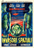 "Movie Posters:Science Fiction, Invaders from Mars (RKO, 1958). First Italian Release 2 - Fogli(39.5"" X 55""). Renato Fratini Artwork. ..."
