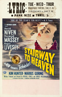 "Stairway to Heaven (Universal International, 1946). Window Card (14"" X 22"")"